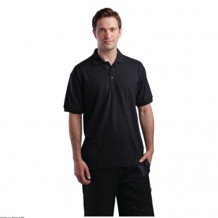 POLO NOIR TAILLE L  CHEFWORKS