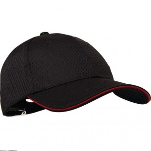 CASQUETTE COOLVENT BORD ROUGE