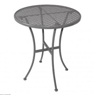TABLE BISTRO ACIER GRISE Ø60CM