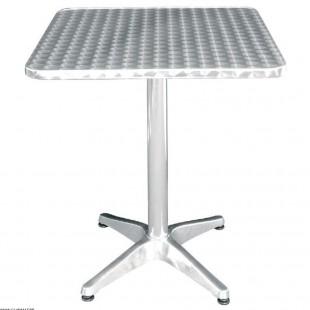 TABLE CARREE 60 * 60 CM INOX