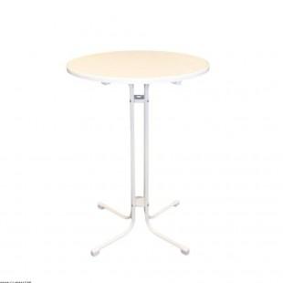 TABLE HAUTE BLANCHE Ø 80M...
