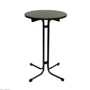 TABLE HAUTE GRISE Ø 80CM...