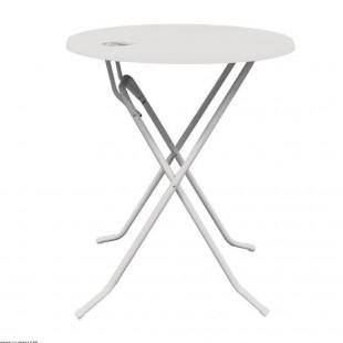 TABLE HAUTE BLANCHE Ø 85CM...