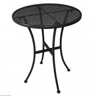 TABLE BISTRO ACIER NOIRE Ø60CM