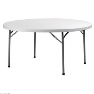 TABLE RONDE BLANCHE PIED...