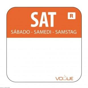 ETIQUETTE SAMEDI - ORANGE...