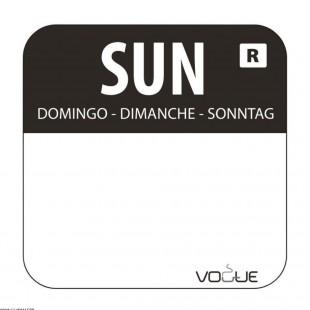 ETIQUETTE DIMANCHE - NOIR...