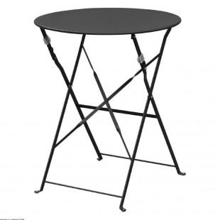 TABLE DE TERRASSE NOIRE EN...