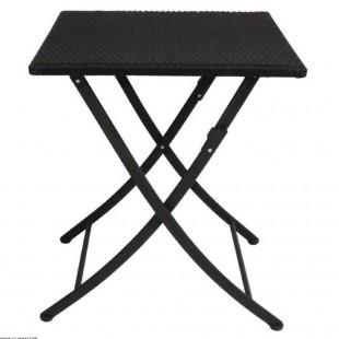 TABLE PLIABLE NOIRE EN ROTIN