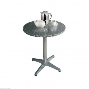 TABLE RONDE INOX Ø 80 CM