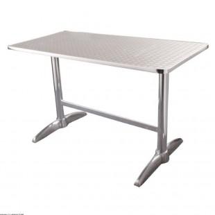TABLE ALUMINIUM 120*60CM