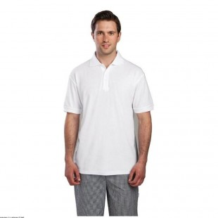 POLO BLANC TAILLE L  CHEFWORKS